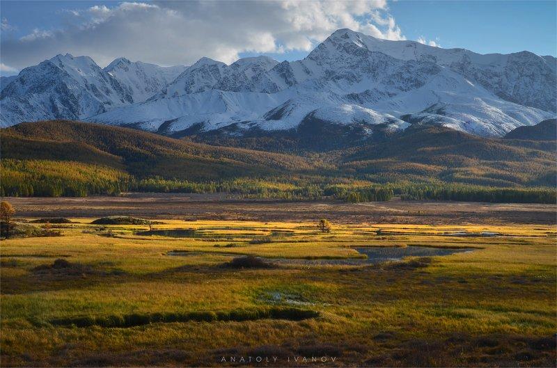 республика алтай, урочище ештыкёль, озеро джангысколь, северо-чуйский хребет Вечерний светphoto preview