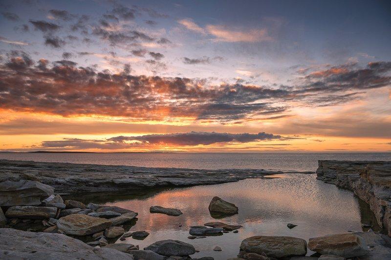 полуостров, рыбачий, море, закат Закаты на Рыжих камняхphoto preview