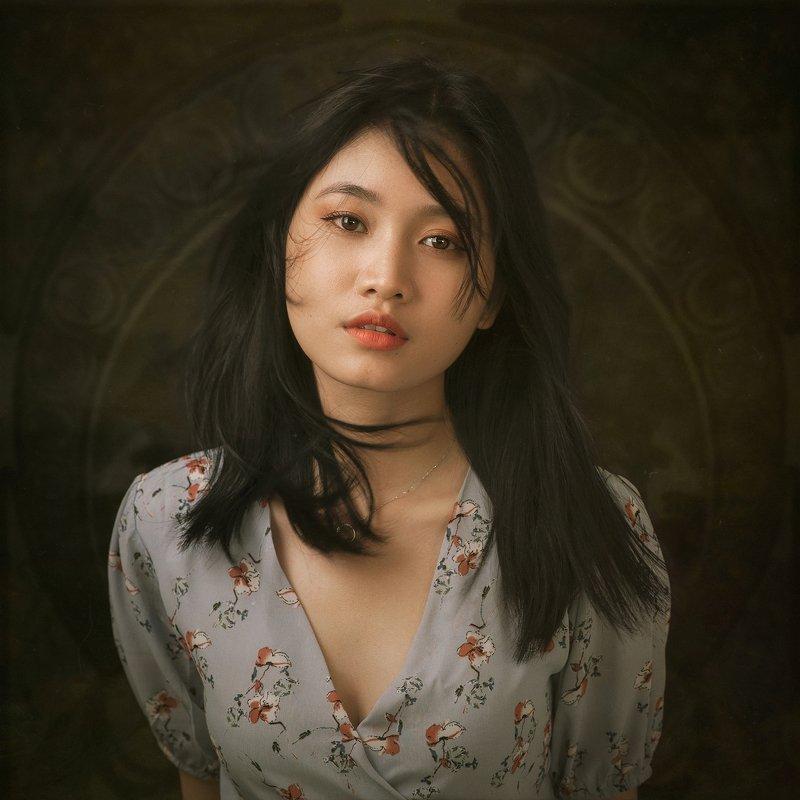 portrait, female, woman, girl, asian, vietnam, vietnamese, young, face, beauty, glamour, studio, eyes, staged, classic, nouveau * * *photo preview