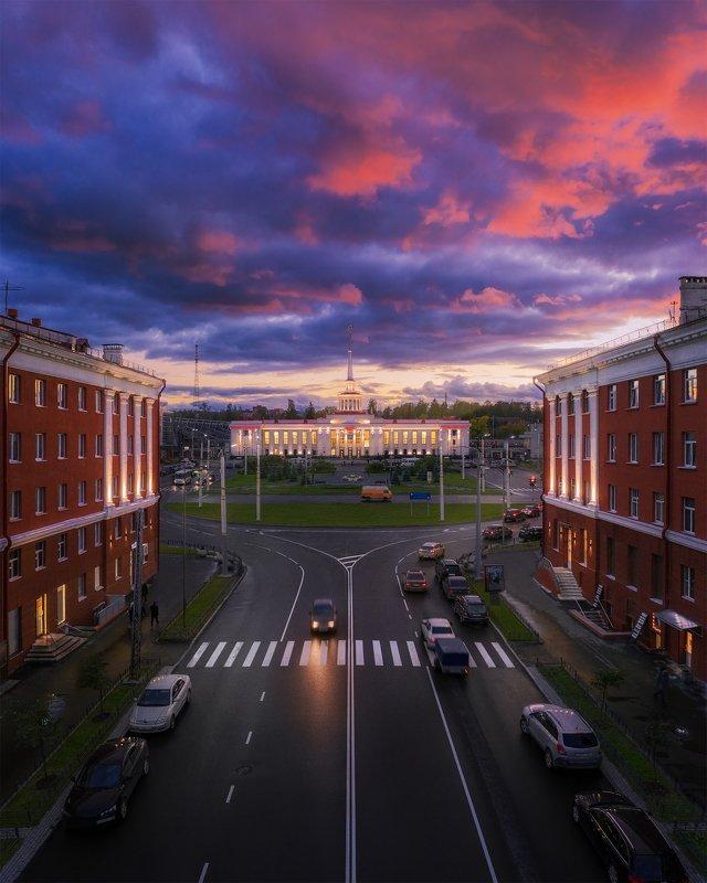 аэросъемка, карелия, петрозаводск, архитектура, пейзаж Петрозаводскphoto preview