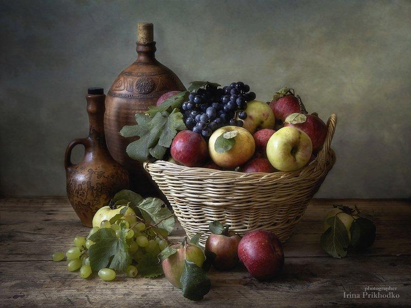 натюрморт, осень, фрукты,художественное фото Урожайphoto preview