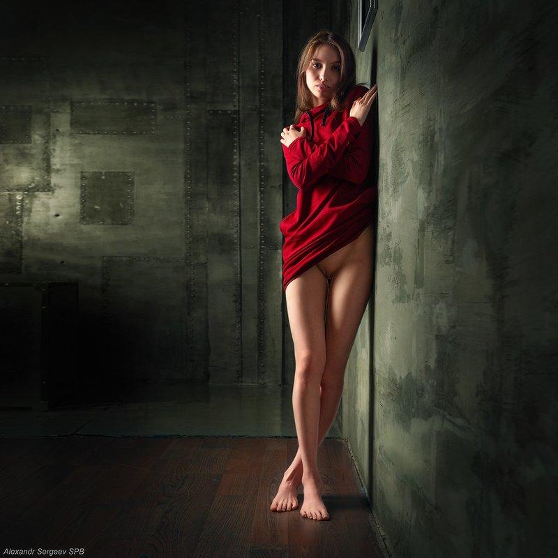 девушка,обнажённая,красота,нежность,гармония,настроение В красномphoto preview