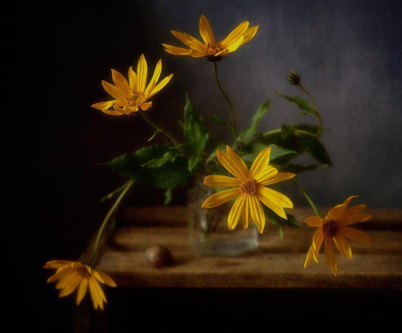 натюрморт,осень,цветы,букет топинамбур...photo preview