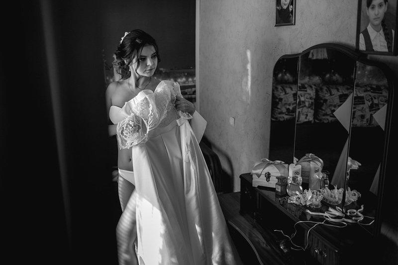 свадьба, свадебная фотосессия,  невеста, свадебное платье, счастье, любовь, портрет, фотосессия, bride, wedding, love, happy, dress, wedding dress Утро невесты Марииphoto preview